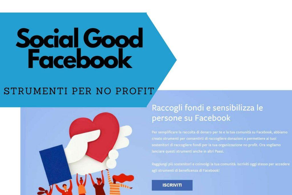 social good strumenti di beneficenza per le no profit su facebook